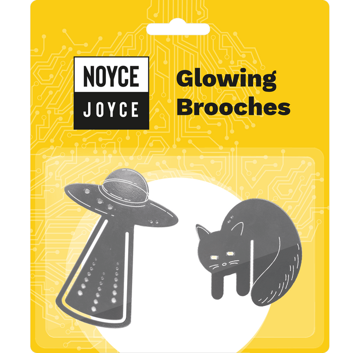 Glowing brooches