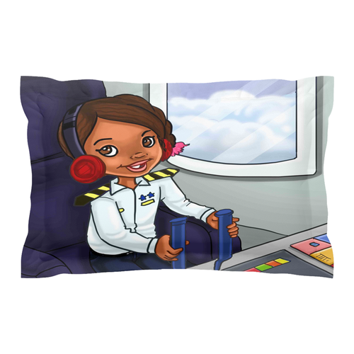 Sister Girl Collection: S.T.E.M. I can be an aviator Pillow Sham