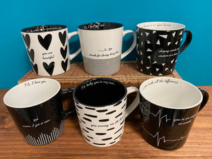 Noted Porcelain Mugs