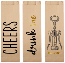 Load image into Gallery viewer, Paper Wine Bags Cheers