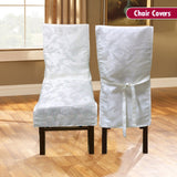 Dining Room Chair Cover - White