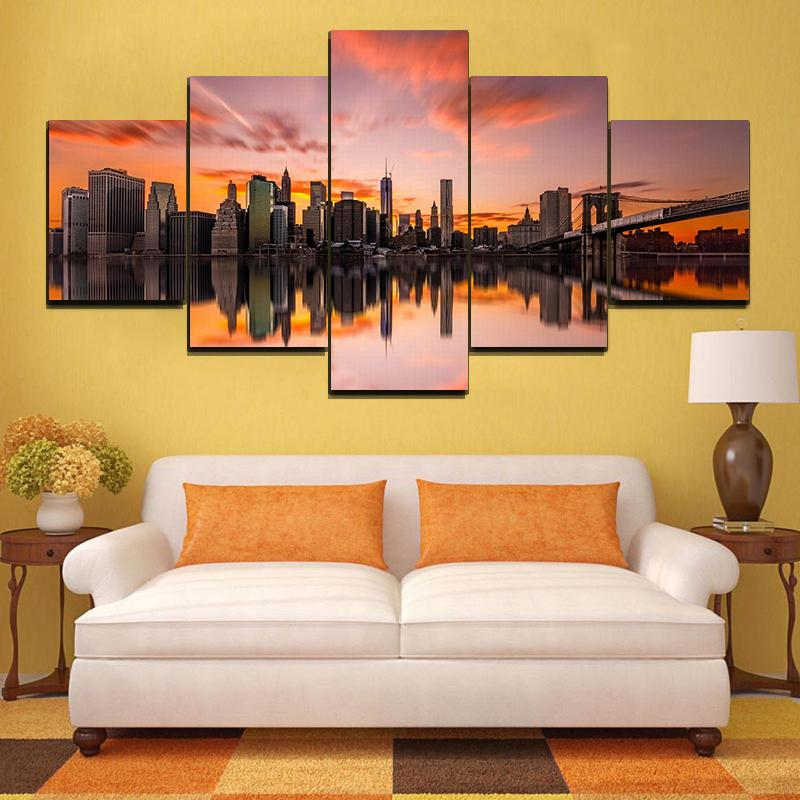 5 PCS WALL ART FRAME OF LANDSCAPES