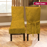 Dining Room Chair Cover - Yellow