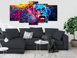 5 Split 3D Wall Frame - Digitally Printed (SKu-WF077)