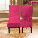 Dining Room Chair Cover - Pink