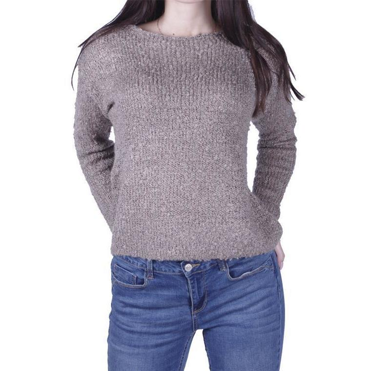Chocolate Pleated Sweater