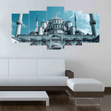 5 Split Canvas Wall Frame - Digitally Printed (Islamic Calligraphy)