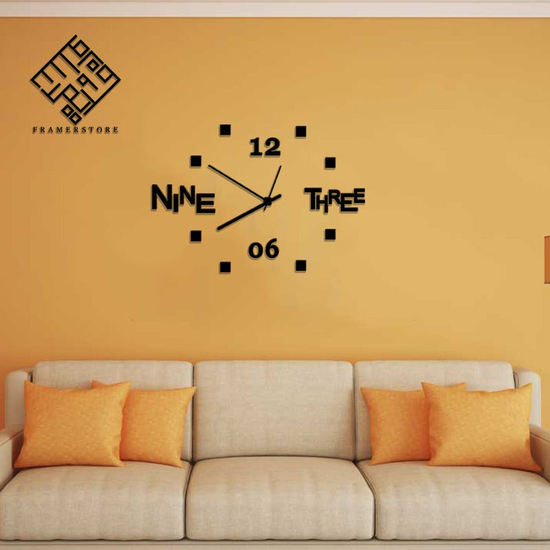 ACRYLIC WALL CLOCK (SKU-AC08)