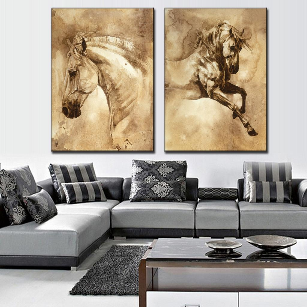 2 DIVIDED 3D WALL FRAME (Horse)