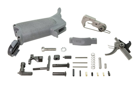 BCM AR15 Enhanced Lower Parts Kit (LPK) - Wolf Gray
