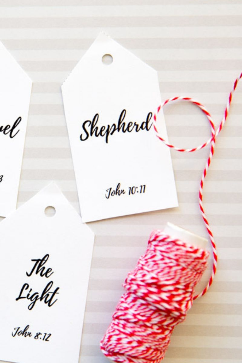 12 Days of Christ-Version 1 (12 Tags,  Companion Cards, & Starting Poem)