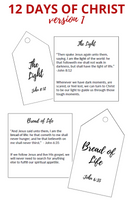 12 Days of Christ-Version 1 (12 Tags & Companion Cards)