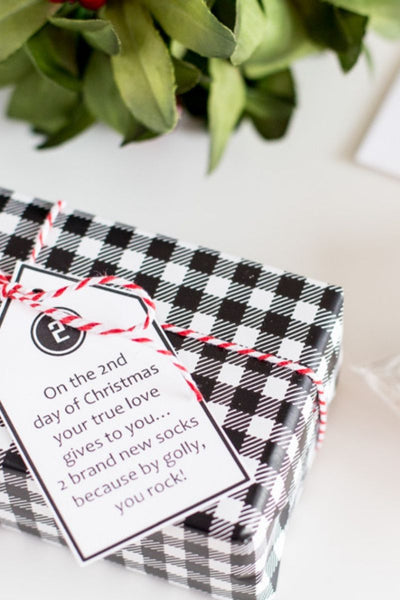 Modern 12 Days of Christmas For Your Husband/Guy  (Tags & Gift List)