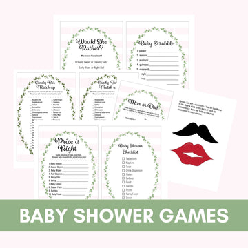 Baby Shower Games Bundle- 5 Games