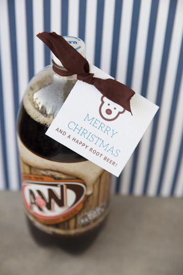 Merry Christmas & Happy Root Beer Tags