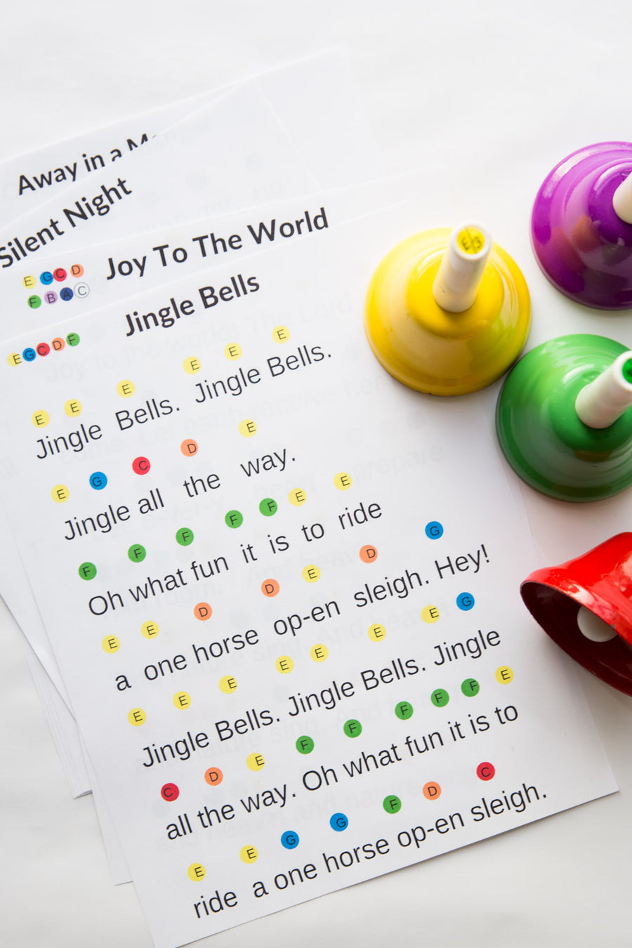Hand Bell Song EBook- 6 Popular Christmas Songs