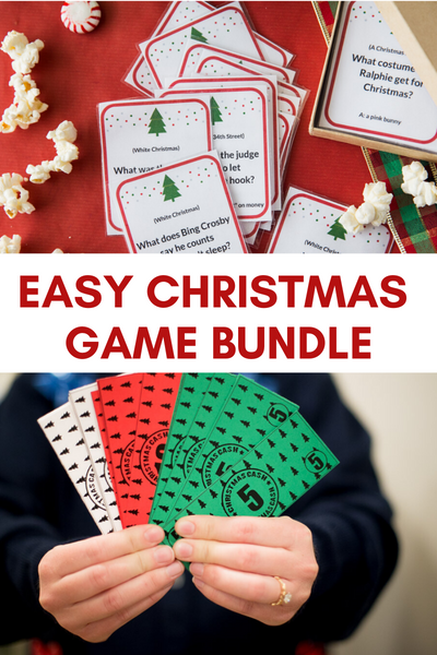 Christmas Game Bundle- 6 Fun Games For Kids & Adults!