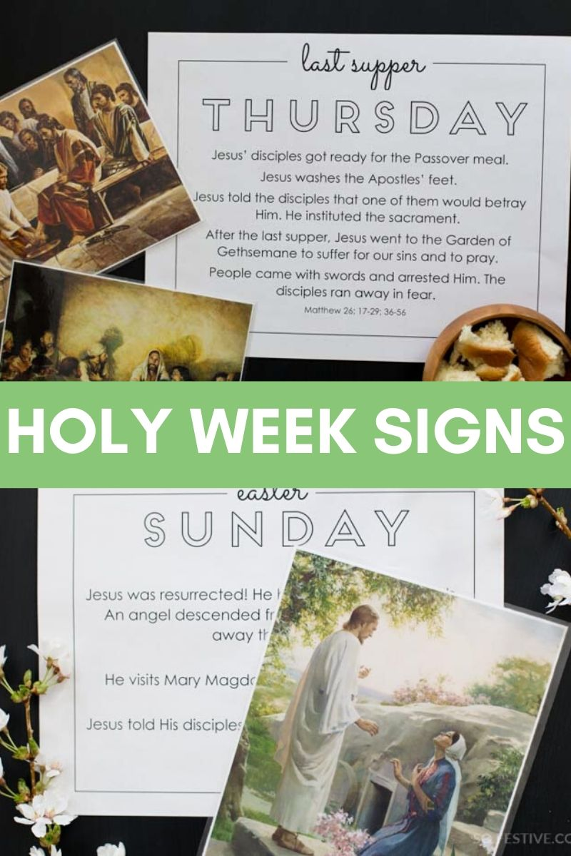 Holy Week Daily Devotionals & Printable Signs - Instant Digital Download