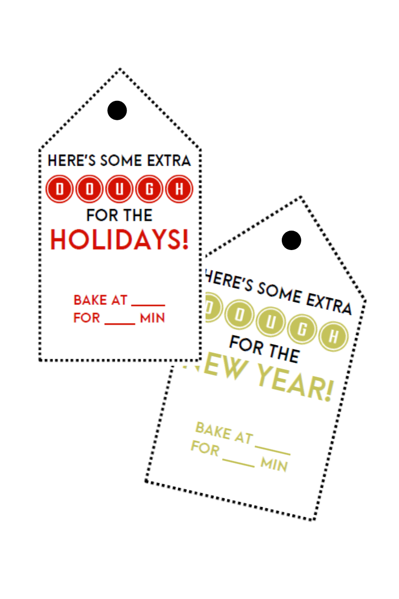 Cookie Dough Neighbor Gift Tags (2 Versions)