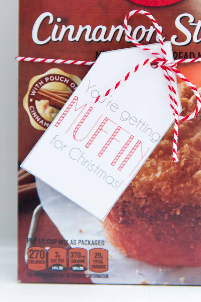 You're Getting Muffin For Christmas- Neighbor Gift Tags