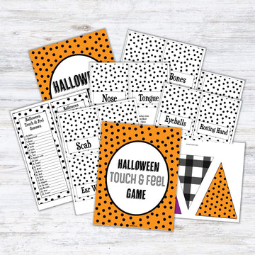 Halloween Mystery Box- Touch & Feel Game Printables