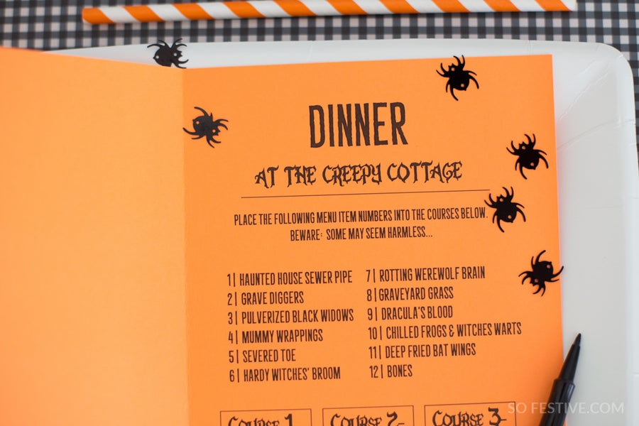 Halloween Mystery Dinner Party Pack- Menus, Recipes, & More