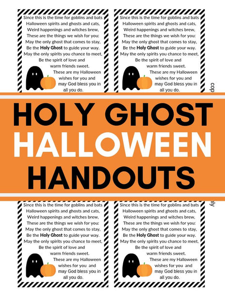 Halloween Holy Ghost Handouts For Young Women/Activity Days