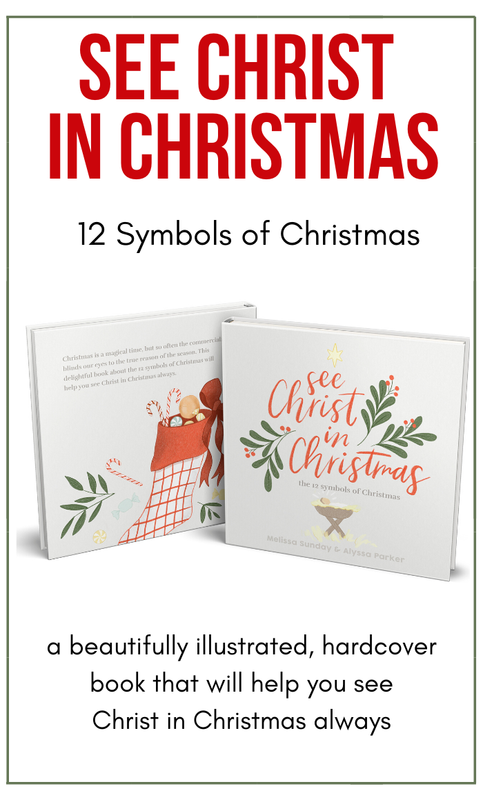 See Christ In Christmas- 12 Symbols of Christmas (Illustrated, Hardcover Book)
