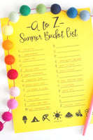 Summer Bucket List (2 Versions)