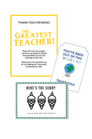 Teacher Appreciation Gift Bargain Bundle (6 Tag Options)