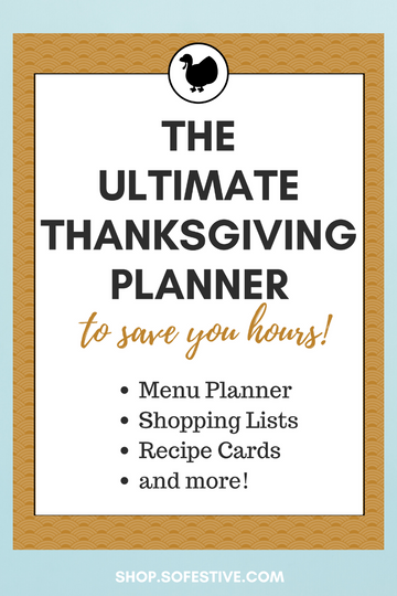 Ultimate Thanksgiving Planner Instant Digital Download