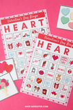 Valentine's Day Bingo - 10 Cards & Calling Cards
