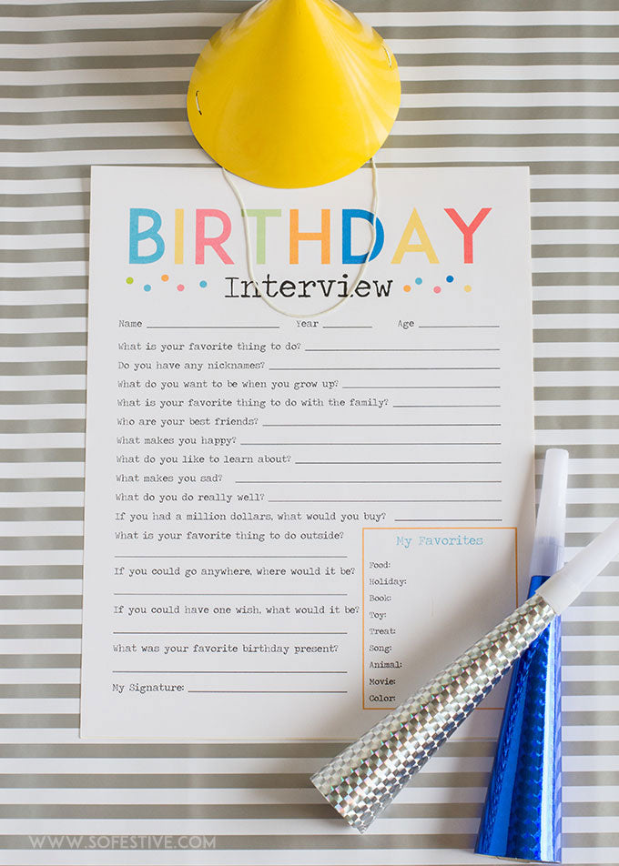 Adorable Birthday Interview + Birthday Kit