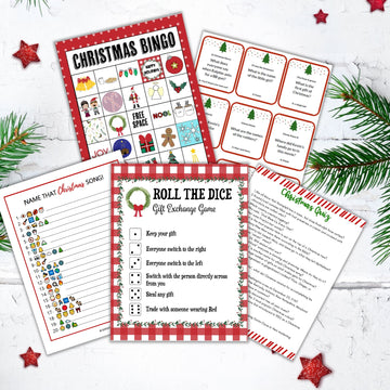 Christmas Game Bundle- 12 Fun Games For Kids & Adults!