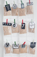 Modern Advent Calendar Numbers (1-24 in 2 color options)