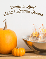 Fall Bridal Shower Kit- Party Banner and Favor Tags