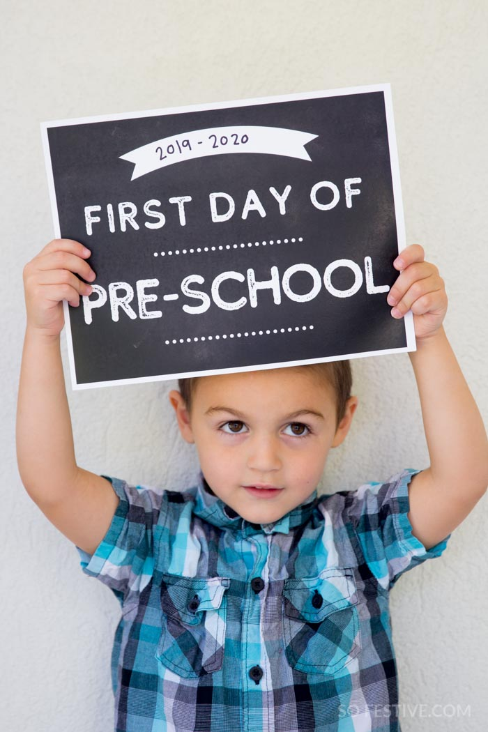 First Day of School Signs  (17 options Pre-K to Grad School)