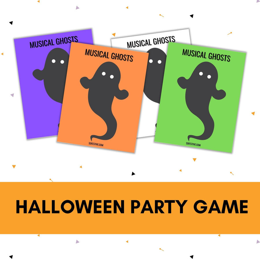 Musical Ghosts-Halloween Game Printables