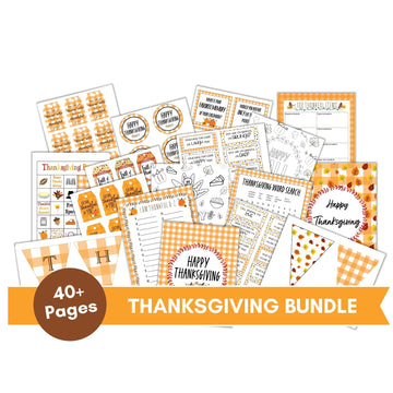 50+ Page Thanksgiving Printable Bargain Bundle