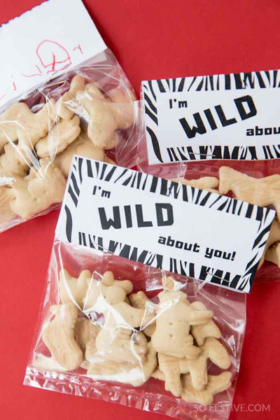 I'm WILD About You- Printable Valentines