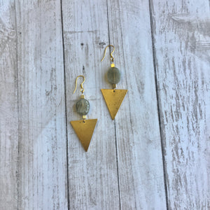 The Northern Skies Triangle Earrings