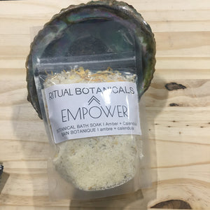 The EMPOWER salt soak pouch