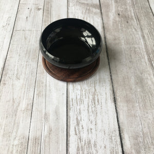 Burning Herb Cauldron with wooden plate