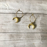 The New Horned Moon Hoop Earrings