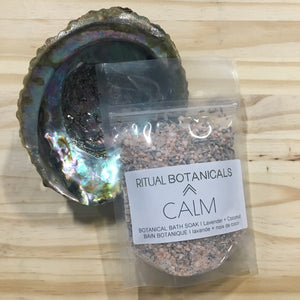 The CALM bath salt soak pouch