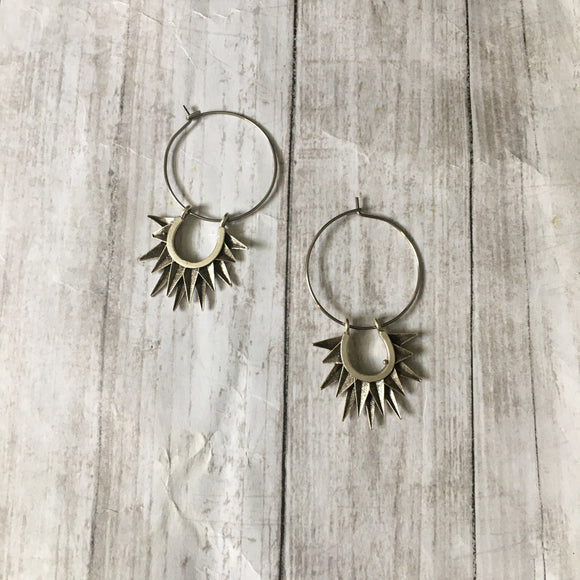 The Silver Soleil Earrings