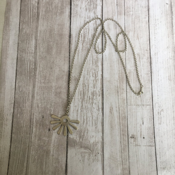 The Fringe Necklace in Silver