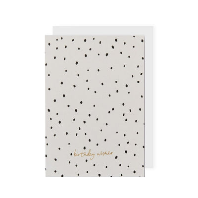 Kinshipped Birthday Wishes Dotty Card - Só Soy Candles