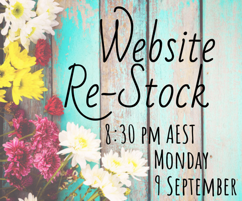 September Website Re-Stock