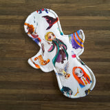 LaLuna Cloth Pad Sewing Pattern - 9 Inch - 2.5 inch snapped width - Daisy & Bird